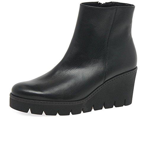 Gabor Utopie Klobige Keil Heel Ankle-Boots 7 UK/ 40.5 EU Schwarz