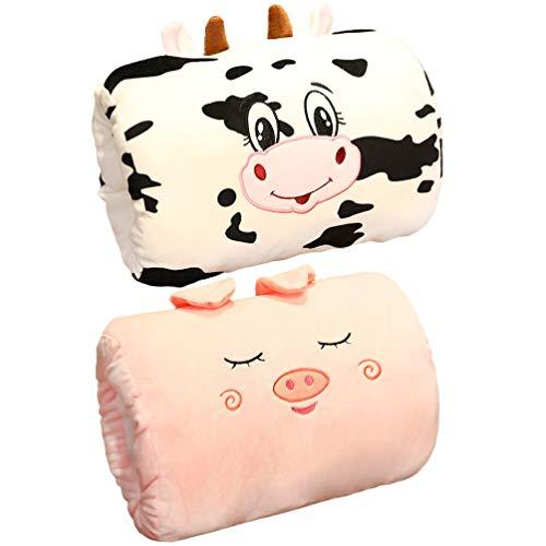 STOBOK Mano Muff Almohada 2 unids 28 × 25 cm de dibujos animados calentador almohada mano Muffs invierno niños almohada mano cubierta chica felpa juguete almohadas caliente almohada de mano