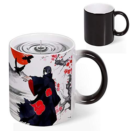 Discoloration Japanese Anime Mug Sasuke Uchiha Ceramic Coffee Cup - 11oz Classic Mug for Anime Fans - Collection of Commemorative Money