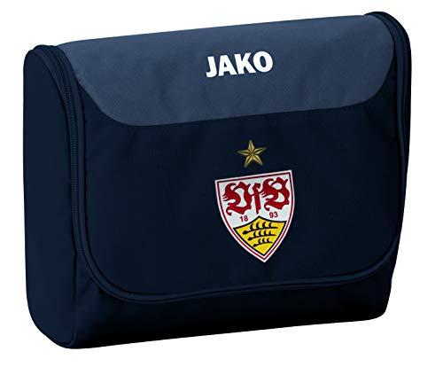 JAKO VfB Stuttgart Striker Kulturbeutel, schwarz/Grau, One Size