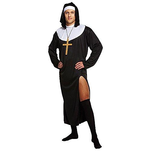 Disfraz De Monja Para Hombre (Negro)