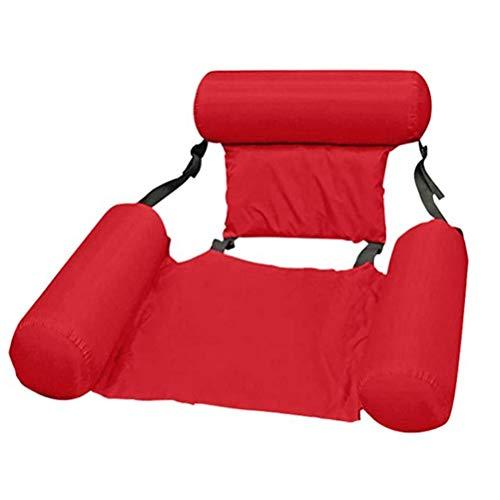 Tianbi Sommar simbassäng hängmatta, pool solstol flytande hängmatta uppblåsbara flottar simbassäng luft soffa flytande stol säng drifter swimmingpool strand flyt för vuxna