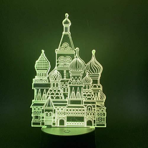 Lampe LED château illusion 3D capteur tactile 7 couleurs Veilleuse enfants Enfants Bébé Cadeaux Chambre Décor Veilleuse LampBaby lumière de nuit
