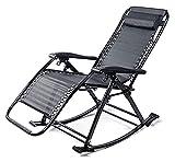 ZOUJIANGTAO Lightweight Sun Lounger Faltbare Gartenstühle Schaukelstuhl ältere Folding Siesta mit Verstellbarer Fußstütze (Color : A, Size : 86x50x45cm)