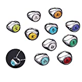 Anime Akatsuki Rings Cosplay Rings Toy Full Set of 11pcs,for Party Decoration Accessories (Style 1)