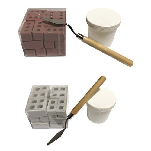 Xbeast Mit Mini-Zementsteinen zum Bauen Kleiner Wände und Mörtel können Sie Ihr eigenes Mini-Ziegelstein-Wandspielzeug + Zement + Schaufel-Set Bauen
