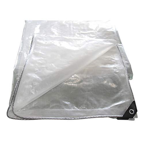 HSBAIS Bache de Protection Transparente Exterieur - Neige imperméable et épaississement UV Bâches étanches avec des œillets,2x3m/6.6x9.9ft