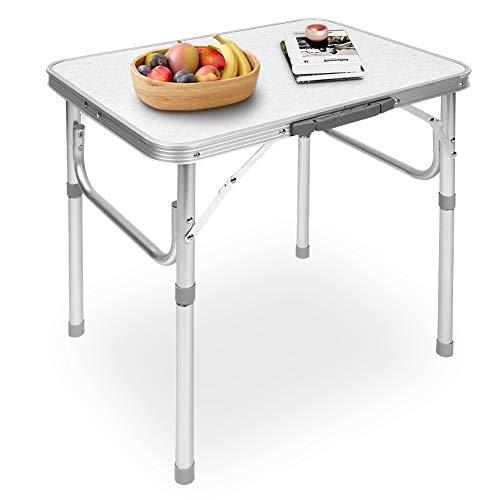 Ejoyous Aluminium Klapptisch Campingtisch, Höhenverstellbar 25-56cm Camping Tisch klappbar Leichter Tisch Alutisch Faltbar Gartentisch Picknicktisch Beistelltisch Falttisch 45x60cm