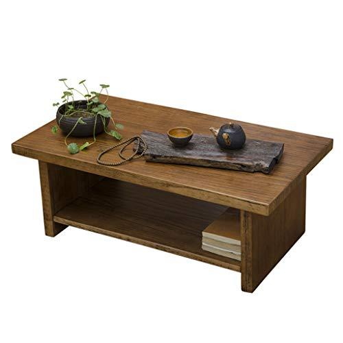 Tables Basse Multifonctions Maison Petite en Bois Massif Tatami Basse Salon Brun Petite Balcon Baie Vitrée Antique Go Basse Basses