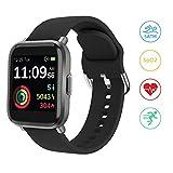Montre Connectée Femmes, YONMIG Montre Intelligente Homme avec Oxymetre (SpO2)/Cardiofrequencemètre, Bracelet Connecté Etanche 5ATM, Smartwatch Sport Fitness Tracker Podometre pour Android iOS