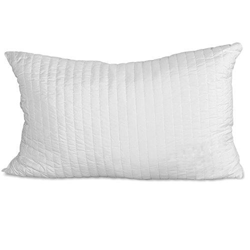 Evergreenweb ✅ Kissen für Betten aus Latex Flocken, 12 cm Hoch Bezug und Polsterung Hypoallergen und Anti-Milben (1 Kissen)