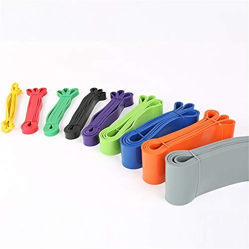 YXXSJB Fitnessbänder Übungsbänder Pull up Assist Band Stretch Klimmzugband Widerstandsbänder für Workout Gym Yoga Grun 2080 * 4.5 * 44 mm