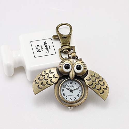 Alikeey Kettingen uil retro klok sleutel gesp horloge halsketting hanger horloge sieraden kwartshorloge