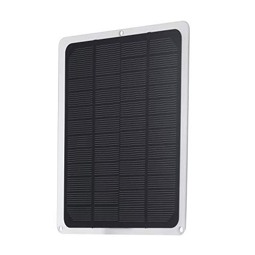 Bedler DC12V 10W Panel Solar con Puerto USB Cargadores de Coche Carga para batería de 12V Accesorios completados portátiles para Acampar al Aire Libre Senderismo Pesca Escalada Panel Solar