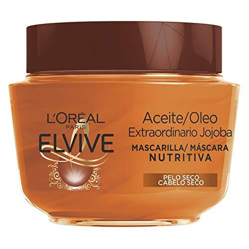 L'Oréal Paris - Elvive Mascarilla Nutritiva Aceite Extraordinario con Aceite de Jojoba, para Pelo Seco, 300 ml