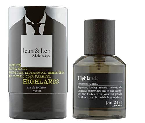Jean & Len Herrenduft Highlands, Parfüm für Herren, Eau de Toilette, Duftnoten: vital, frisch, belebend, erfrischend, 50 ml, 1 Stück