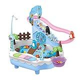 SaniMomo Angelspiel Wasserspielzeug Badespielzeug Badewannenspielzeug Spielturm - Rosa