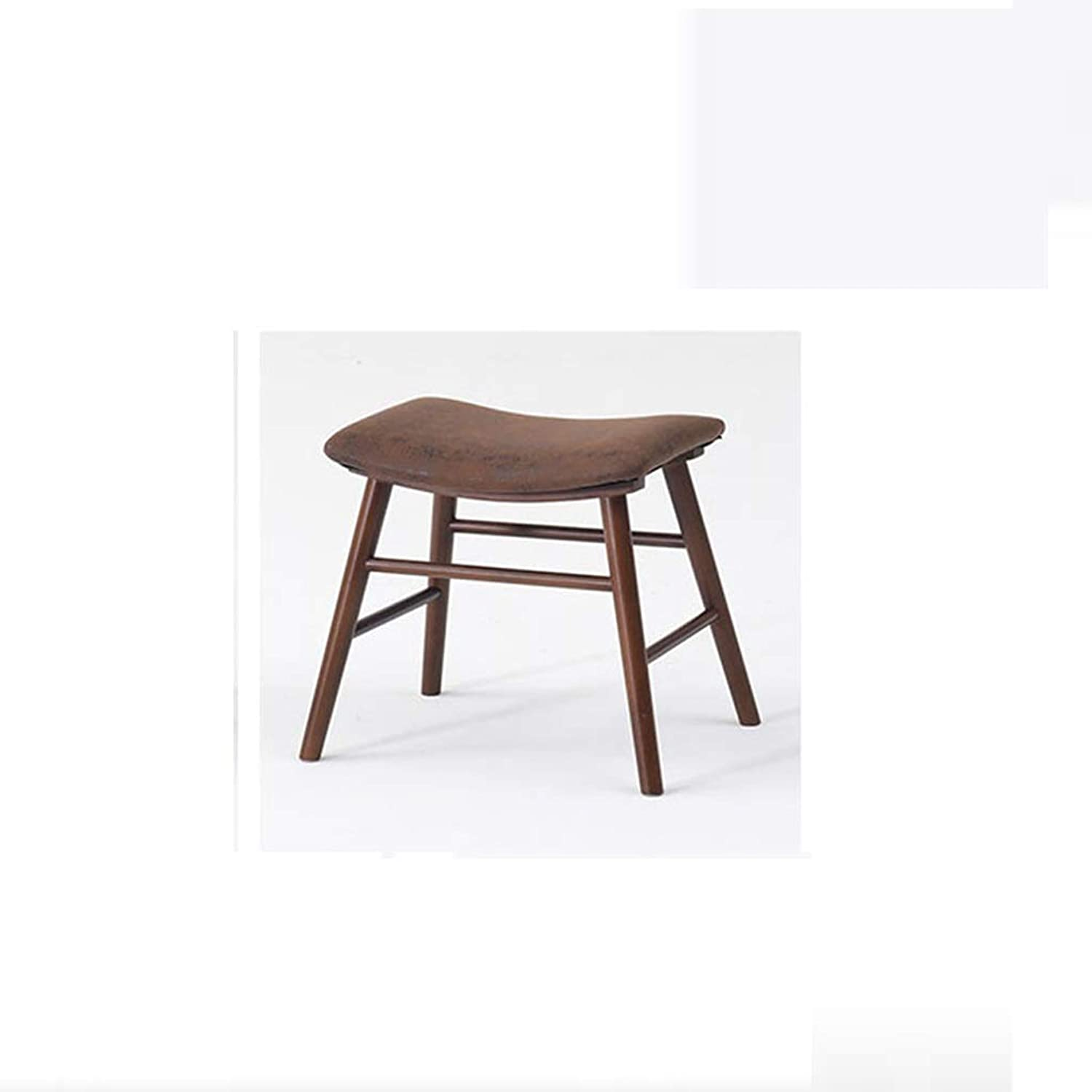 LLSDLS Small Stool-Curved Solid Wood Stool Bench Casual Stool shoes Bench Simple Fashion Sofa Stool