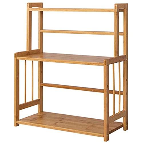 SXFYHXY 3-poziomowy stojący stojak na przyprawy kuchnia łazienka blat organizer do przechowywania, bambusowe pojemniki na butelki z przyprawami uchwyt z regulowaną półką
