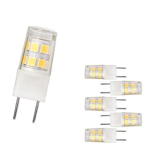 G8 LED Light Bulb 2.5 Watts Warm White - G8 Base Bi-pin Xenon JCD Type LED 120V 20W Halogen Replacement Bulb for Under Counter Kitchen Lighting, Under-Cabinet Light.Pack of 5