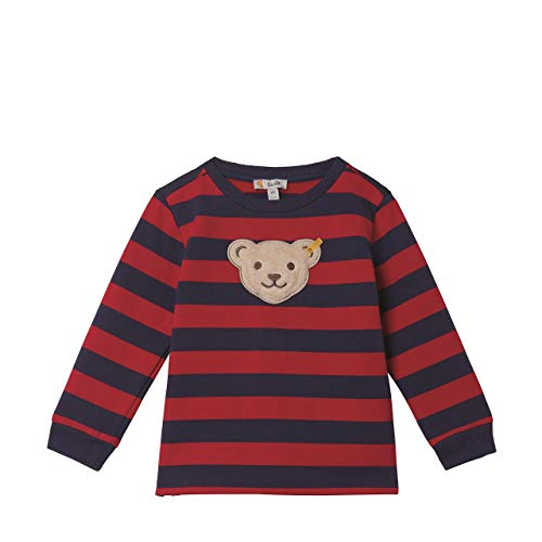 Steiff Jungen Sweatshirt , Rot (TANGO RED 4008) , 104