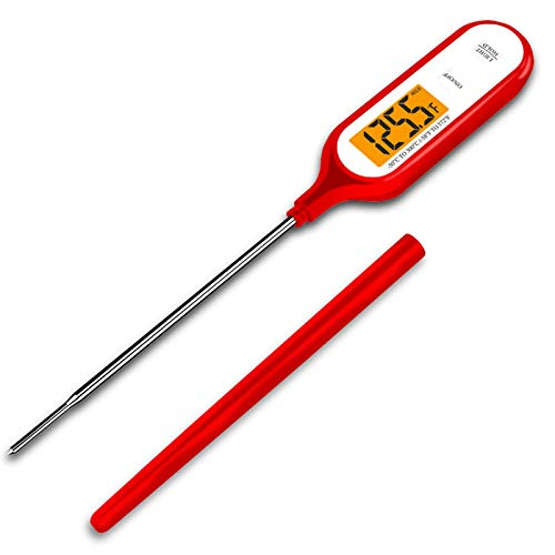 Home store Termómetro de Cocina -50 ℃ ~ + 300 ℃ IP66 Impermeable Termómetro Alimentos Digital de Lectura Instantánea - para Liquidos Barbacoa Carne Aceite Aguared