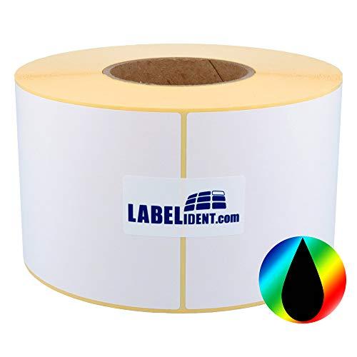 Labelident Inkjet Etiketten auf Rolle - 102 x 152 mm - 430 Papier Etiketten für Primera, Epson Drucker 3 Zoll, hochglänzend, selbstklebend, beschichtet