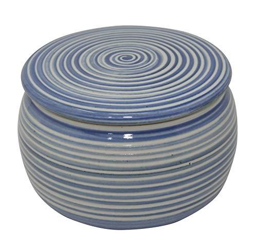 Original französische wassergekühlte keramik butterdose, nie mehr harte butter zum frühstück, 250gr butter, syn spiral B-G