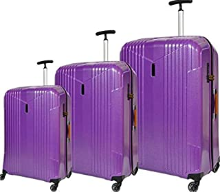 Track Trolley Bags , Set of 3, Purple , 9320/3P
