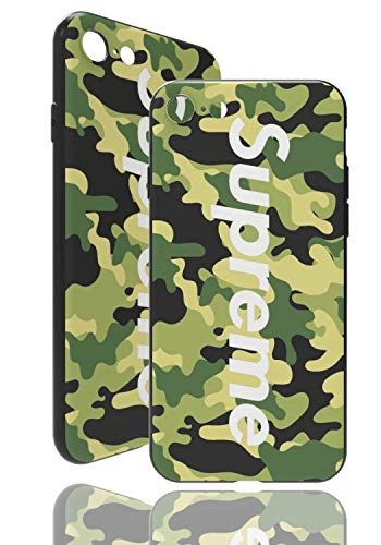 SUP Camo Case [ Kompatibel mit Apple iPhone 7/8, in Grün ] Supreme Hülle im Camouflage Design - Army Tarnmuster - Fühlbares 3D-Motiv
