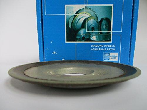 Dia. 4' (100mm.) Hole 1.26' (32mm.) Type: 12R4 Dish Abrasive Diamond Grinding Wheel for Carbide Teeth, Circular Saw (125/100 Micron = 150 Grit)