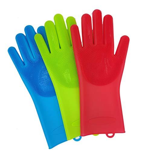 Ausgezeichneter Handschuh 2 stücke Silikon Hund Pet pinsel Handschuh Deshedding Sanfte Effiziente Pet Handschuh Hund Bad Katze reinigung Liefert Pet Handschuh Hund kämmt Einfach an- und auszuziehen