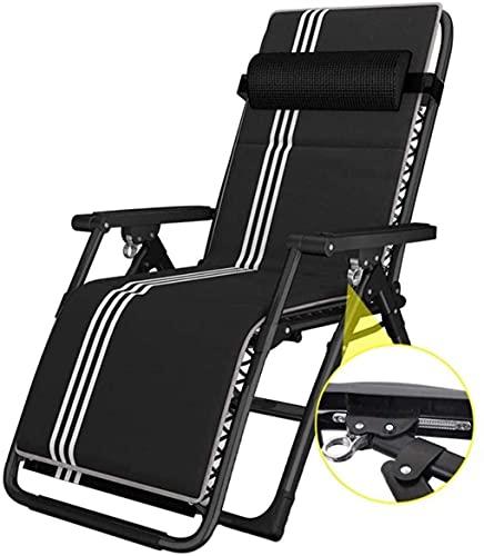 DFANCE Silla Zero Gravity, sillón Acolchado para Patio, sillón Tumbona, sillón Ajustable para césped de 330 Libras de Capacidad con portavasos, reposacabezas, para Exteriores, Camping, Patio, céspe