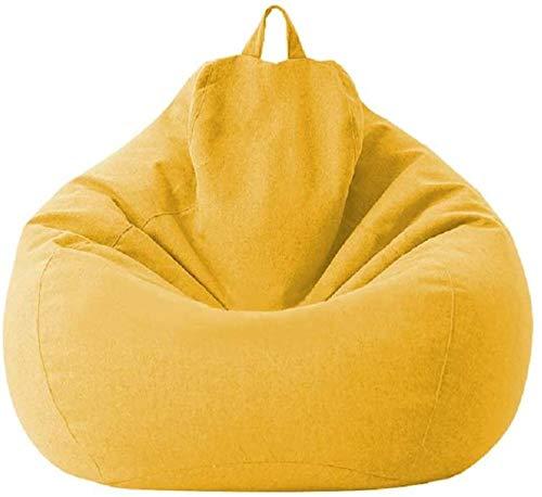 MeButy Puf grande con respaldo alto, para adultos y niños, color amarillo