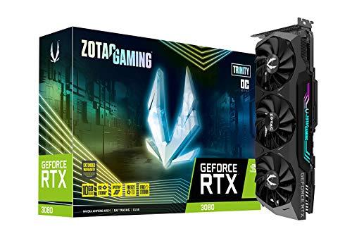 ZOTAC GAMING GeForce RTX 3080 Trinity OC 10GB GDDR6X 320-bit 19 Gbps PCIE 4.0 Gaming Graphics Card, IceStorm 2.0 Advanced Cooling, SPECTRA 2.0 RGB Lighting, ZT-A30800J-10P