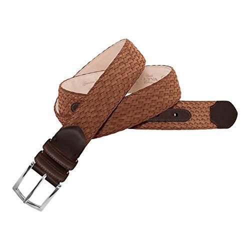Leyva - Cinturón de piel crispada Nobuck de hombre (110 cm)