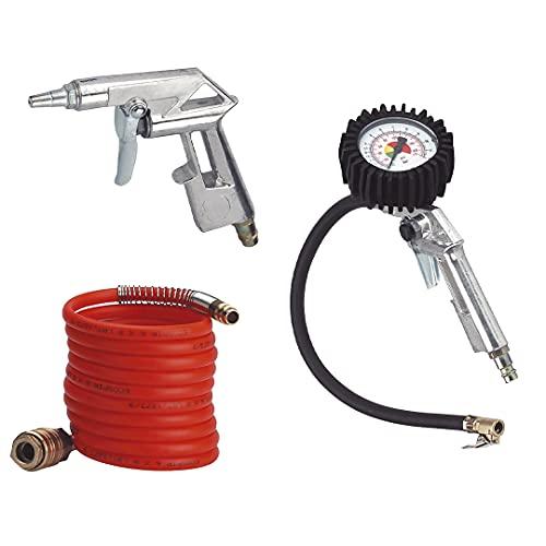 Einhell 4132741 - Set ad aria compressa, 3 pezzi, accessori per compressore
