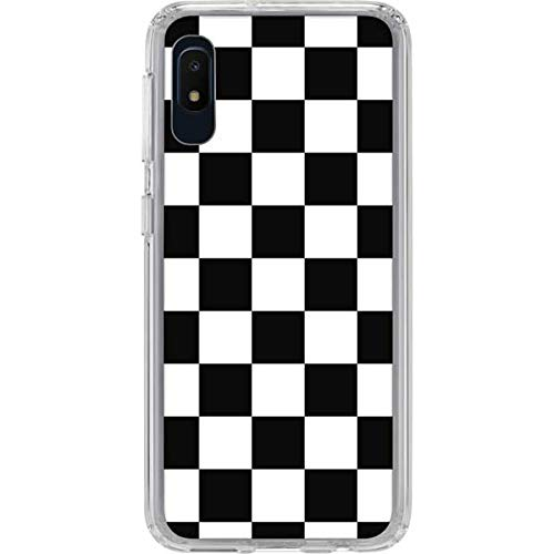 Skinit Clear Phone Case Compatible with Samsung Galaxy A10e - Officially Licensed Originally Designed Black and White Checkered Design