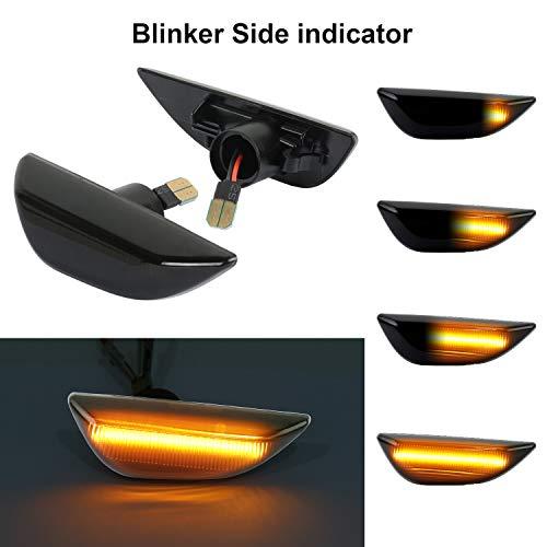 OZ-LAMPE Dynamische Seitenblinker Blinker Fließende Seitenmarkierungsleuchte Rauch Für Ope-l Mokka 2012-2016 Mokka X 2016 ~ Chevrole-t Trax 2013 ~