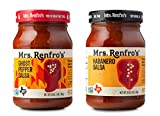 Mrs Renfros Ghost Pepper Salsa 16 oz & Habanero Hot Salsa 16 oz (Variety Pack)