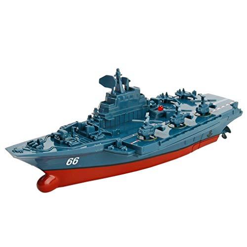 Firiodr Battleship RC Warship Remote Control Cruiser Speedboat Model Children Aircraft Carrier Toys