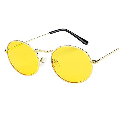 Bascar Wobang Gafas de sol redondas para hombre, polarizadas, retro, vintage, de níquel, para mujer, John Lennon, hippie steampunk, con marco de metal 467 Talla única