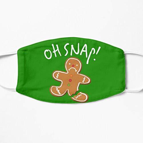 Oh Snap! Shirt Gingerbread Cookie Man Broken Leg Baking Gear Mask Holiday Washable Face Mask,Winter Masks,Xmas Gifts