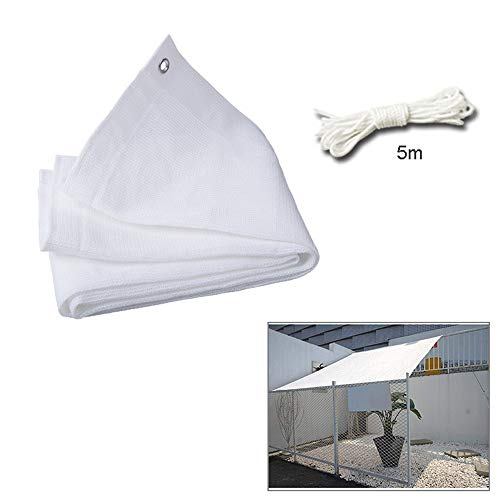 Rectangular Tarpaulin Sun Shade Sail Garden White Waterproof UV Sun Protective Screen Shelter Awning Gazebo Canopy Pergola Patio Outdoor,3Mx5M