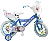 Pik&Roll Girls Frozen Kinderfahrrad 14', blau