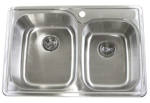 CBath Top-mount Drop-in Double Bowl Kitchen Sink