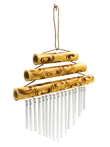 Triple Petit plateau en bambou Carillon 21 cm