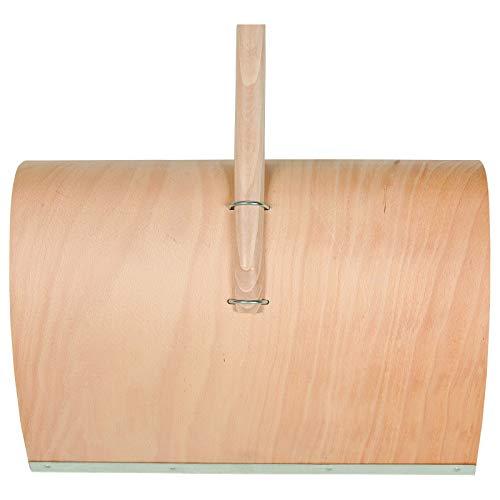 SHW-FIRE 59021 Schneeschaufel Schneeschieber Holz Sperrholz 50 cm breit Professional mit Aluminiumkante Stiel 150 cm lang - 2