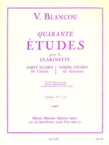 Wise Music Classical Alphonse Leduc(ルディック社)ブランク『40の旋律的で発展的な練習曲 第2巻』