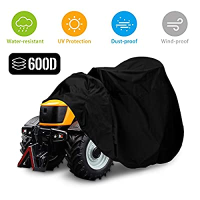 """NASUM Riding Lawn Mower Cover, 600D-Upgrade Tractor Cover Fits Decks up to 54"""", Outdoors Lawn Mower Cover, Protection Universal Fit for Your Lawn Tractor Cover(72x54x46 inches)"""